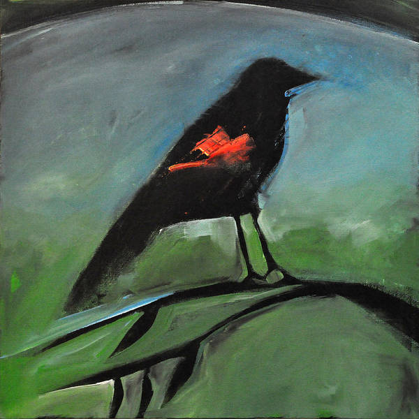 Wall Art - Painting - Redwing by Tim Nyberg