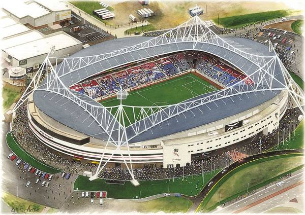 Wall Art - Painting - Reebok Stadium - Bolton Wanderers by Kevin Fletcher