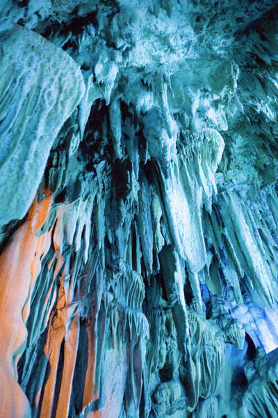 Subterranean Photograph - Reed Flute Cave by Adam Hart-davis/science Photo Library