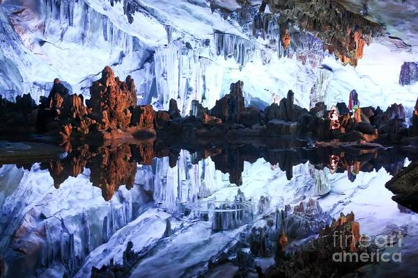 Photograph - Reed Flute Cave Guillin China by Thomas Marchessault