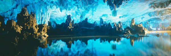Stalagmite Photograph - Reed Flute Cave In Guilin, Guangxi by Panoramic Images
