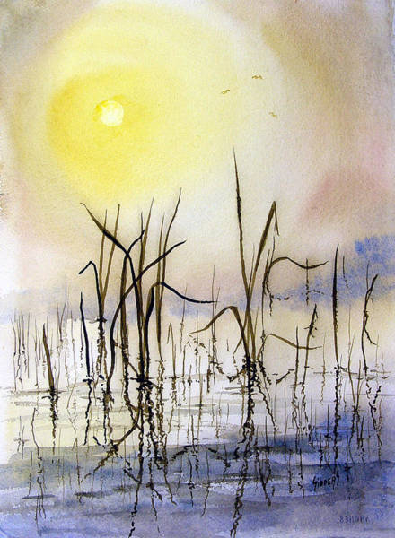 Painting - Reeds by Sam Sidders