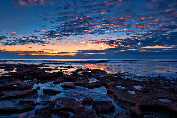 Reef Pool Sunset Reflections Art Print