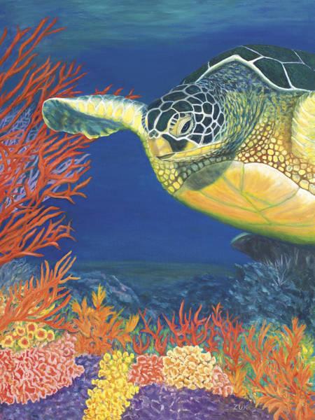 Painting - Reef Rider by Karen Zuk Rosenblatt