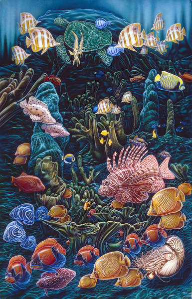 Painting - Reef Three by JQ Licensing