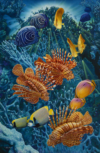 Painting - Reef Two by JQ Licensing