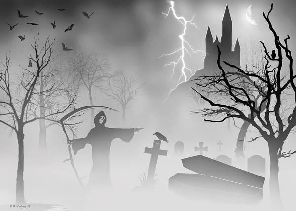 Bird Strike Wall Art - Digital Art - Reaper by Brian Wallace