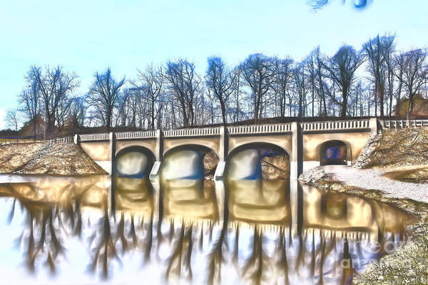 Photograph - Reflected Arched Bridge by Jim Lepard