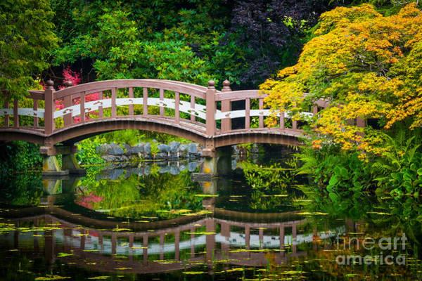 British Columbia Photograph - Reflected Bridge by Inge Johnsson