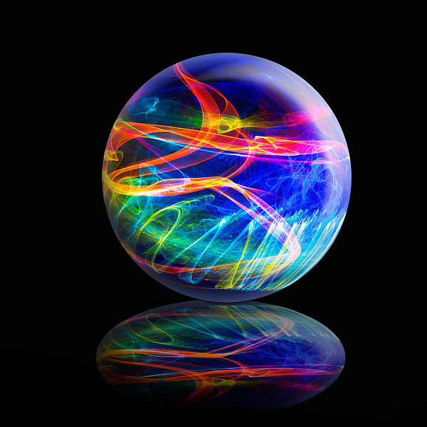 Reflected Flame Globe Art Print