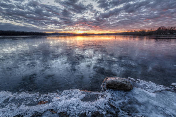 Great Plains Photograph - Reflected On Ice by Scott Bean