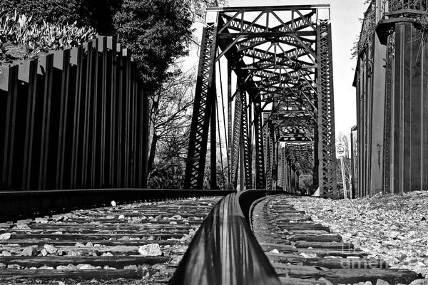 Photograph - Reflection Of Strength 6th Street Railroad Bridge  Augusta Georgia Art by Reid Callaway