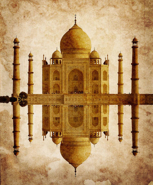 Cupola Digital Art - Reflected Taj Mahal by Daniel Hagerman