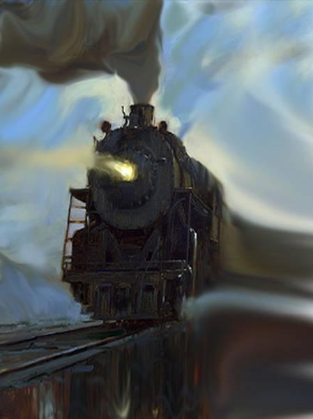 Mixed Media - Reflected Train by Dennis Buckman