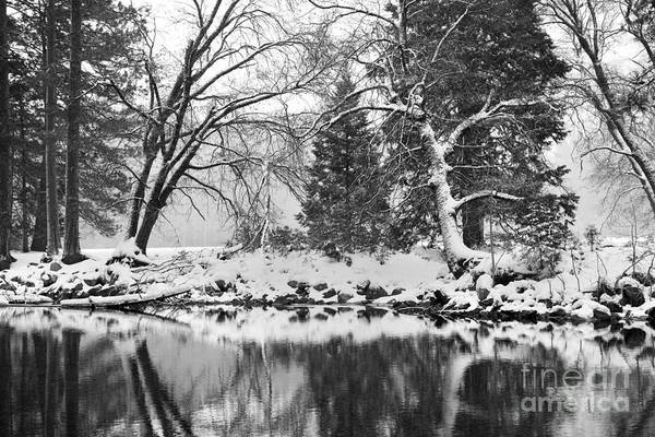 Wall Art - Photograph - Reflected Winter Scenery In Yosemite California by Julia Hiebaum