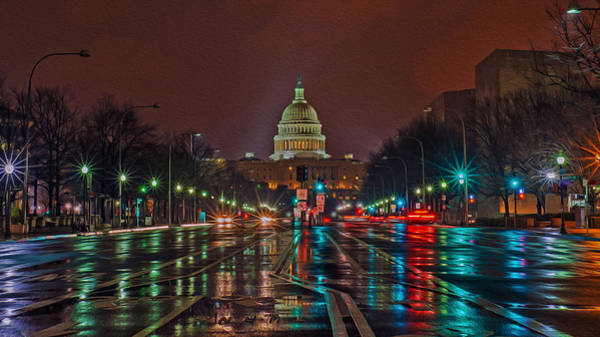 Digital Art - Reflecting On D.c. by Torrey McNeal