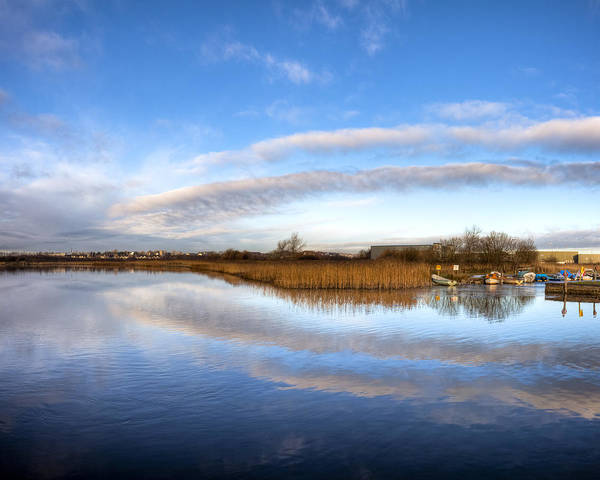 Photograph - Reflecting Skies On The River Corrib In Galway by Mark Tisdale