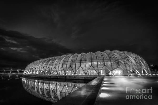 Santiago Calatrava Photograph - Reflecting The Future-bw by Marvin Spates