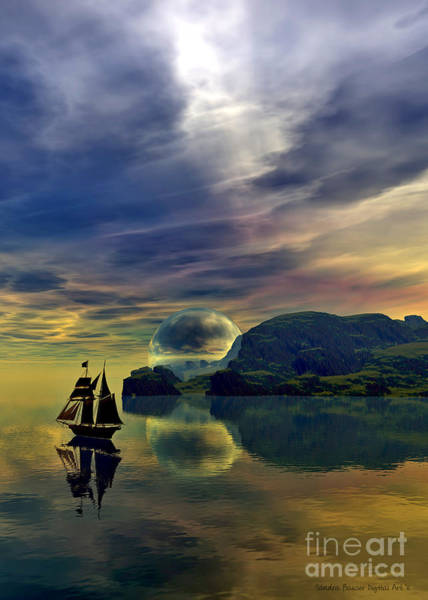 Digital Art - Reflection Bay by Sandra Bauser Digital Art