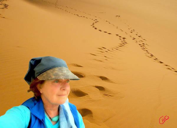 Photograph - Reflection Desert Time Egypt by Colette V Hera  Guggenheim