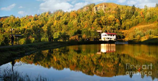 Photograph - Reflection In Romanian Mountains by Daliana Pacuraru