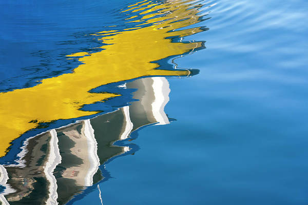 Yellow Photograph - Reflection In The Water by Typo-graphics