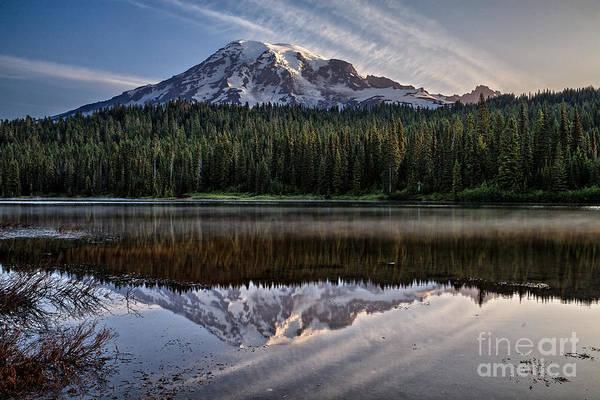 Photograph - Reflection Lakes At Dawn by Stuart Gordon