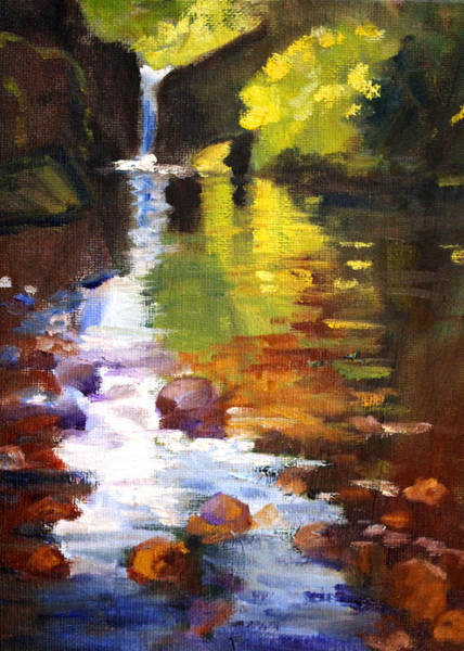 Wall Art - Painting - Reflection by Nancy Merkle