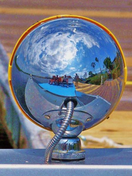 Airboat Photograph - Reflection Of A Airboat by Chuck  Hicks