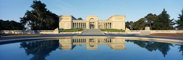 Legion Of Honor Photograph - Reflection Of A Palace In Water by Panoramic Images
