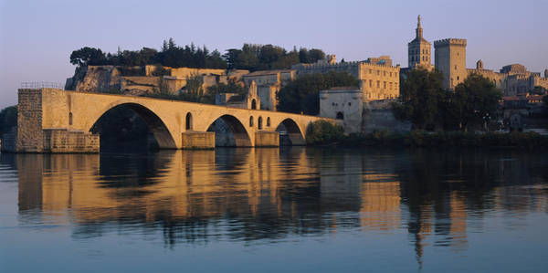 Rhone River Photograph - Reflection Of A Palace On Water, Pont by Panoramic Images