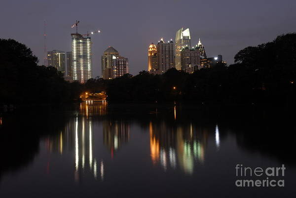 Hotlanta Photograph - Reflection Of Atlanta Skyline  by Willie Harper
