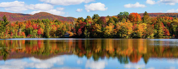 Bolton Photograph - Reflection Of Autumn Trees On Water by Panoramic Images