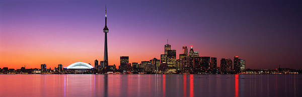Cn Tower Wall Art - Photograph - Reflection Of Buildings In Water, Cn by Panoramic Images