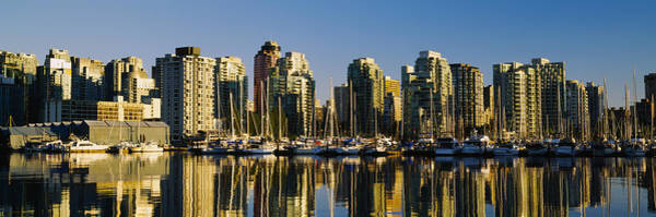 False Creek Wall Art - Photograph - Reflection Of Buildings In Water, False by Panoramic Images