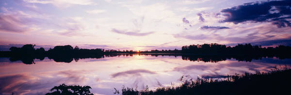 Peacefulness Photograph - Reflection Of Clouds In A Lake by Panoramic Images