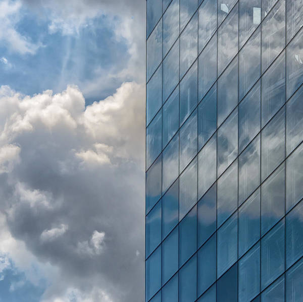 Photograph - Reflection Of Clouds In Building Window by Gary Slawsky