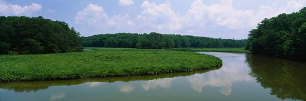Colonial Williamsburg Photograph - Reflection Of Clouds In Water, Colonial by Panoramic Images