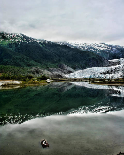 Photograph - Reflection Of Mendenhall by Heather Applegate