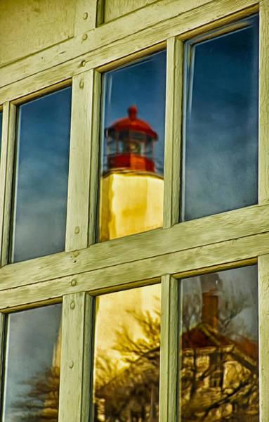 Photograph - Reflection Of Sandy Hook Lighthouse by Gary Slawsky