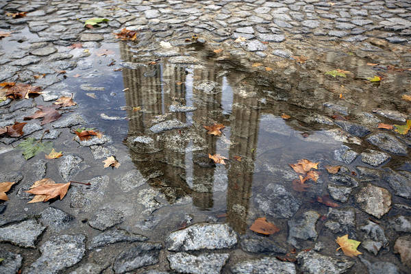 Wall Art - Photograph - Reflection Of The Roman Temple by Andre Goncalves