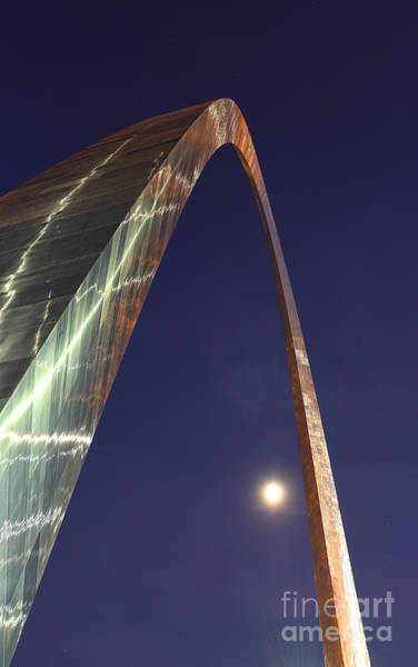 Wall Art - Photograph - Reflection Of Thunder On The Arch - The Gateway Arch - St. Louis Arch by Lee Dos Santos