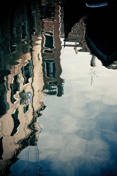 Photograph - Reflection Of Venice On Grand Canal Italy by Raimond Klavins