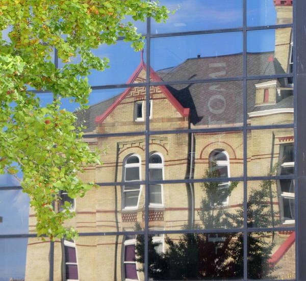 Photograph - Reflection Turner Hall 1 by Anita Burgermeister