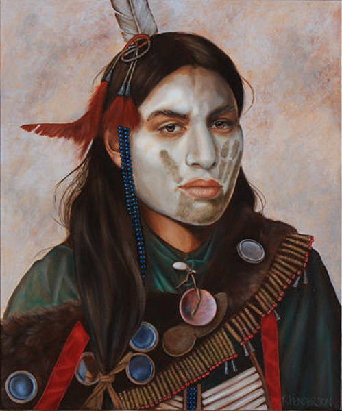 Wall Art - Painting - Reflections_ American Indian By K Henderson  by K Henderson