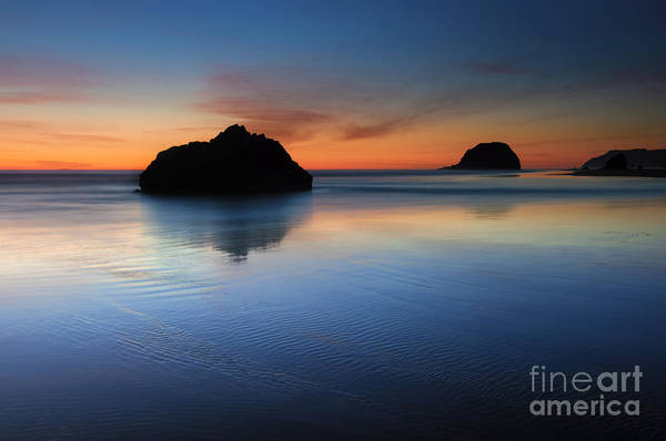 Cannon Beach Photograph - Reflections At Dusk by Mike Dawson