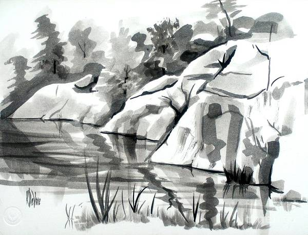 Painting - Reflections At Elephant Rocks State Park No I102 by Kip DeVore
