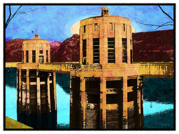 Reflections At Hoover Dam Art Print