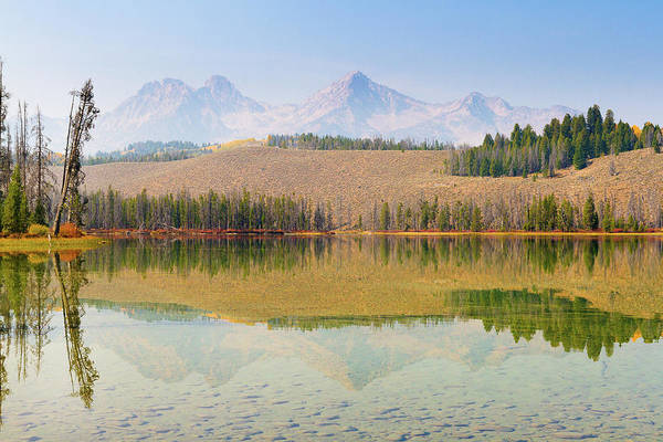 Little People Photograph - Reflections At Little Redfish Lake In by Anna Gorin