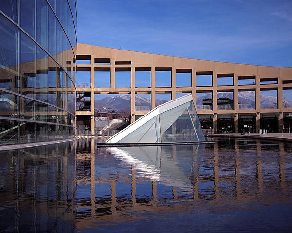 Photograph - Reflections At The Library by Rona Black